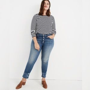 Madewell Tall Slim Straight Jeans Button Front